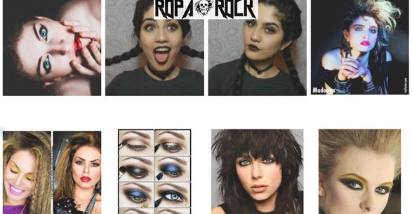 Distintas formas de maquillaje rockero