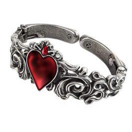 Pulsera Corazón Rojo de Acero Inoxidable