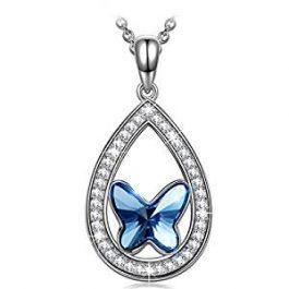 ANGEL NINA – Plata con Cristal Swarovski Azul