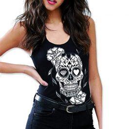 Calavera Mexicana – Camiseta Tirantes Mujer