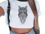 Crop Top Owl – Camiseta Mujer