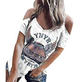 Liberty Road (Blanco) – Camiseta Hombros Descubiertos