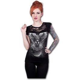 Owl Moon – Camiseta Mujer (Negra)