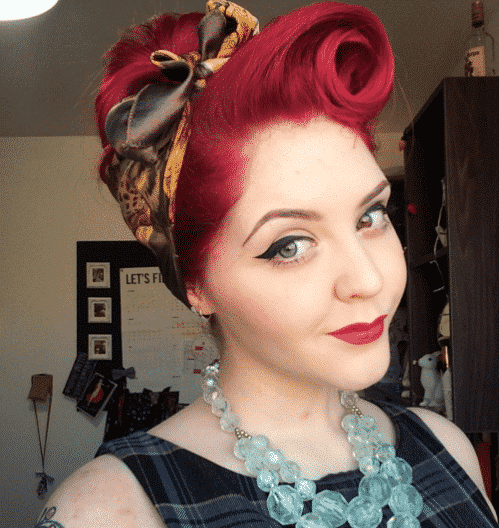 1 Peinados para Mujeres Rockeras con pañuelo