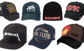 Selección de las gorras rockeras de grupos más influyentes del panoráma musical rock.
