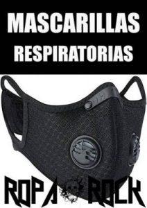 Mascarillas de protección respiratoria con estilo rockero