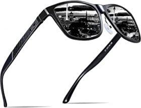 Representación de la oferta en gafas de sol para complementar ropa rockera para hombres.
