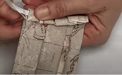9 Cosemos la tela que sujeta las gomas laterales