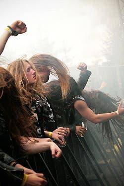 Durante un concierto de Motorhead
