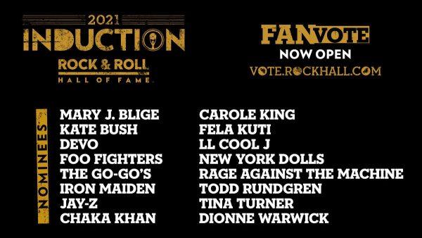 Nominados al Salón de la Fama del Rock & Roll en 2021.