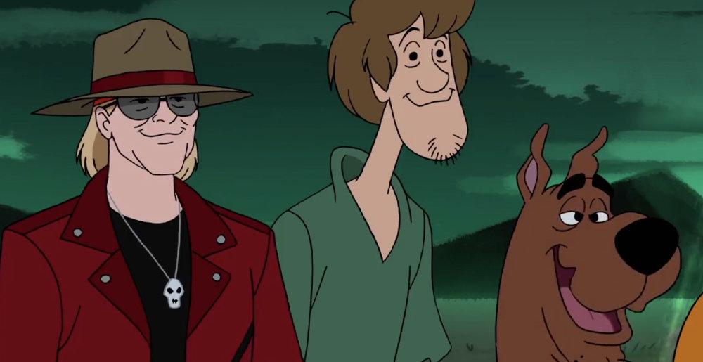 Aparición de AXL ROSE en Scooby Doo