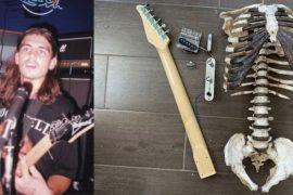 Un fanático hace una guitarra con huesos de su tío + VIDEO