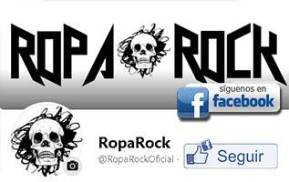 Sigue a RopaRock en Facebook para enterarte de todas las novedades del rock y heavy metal